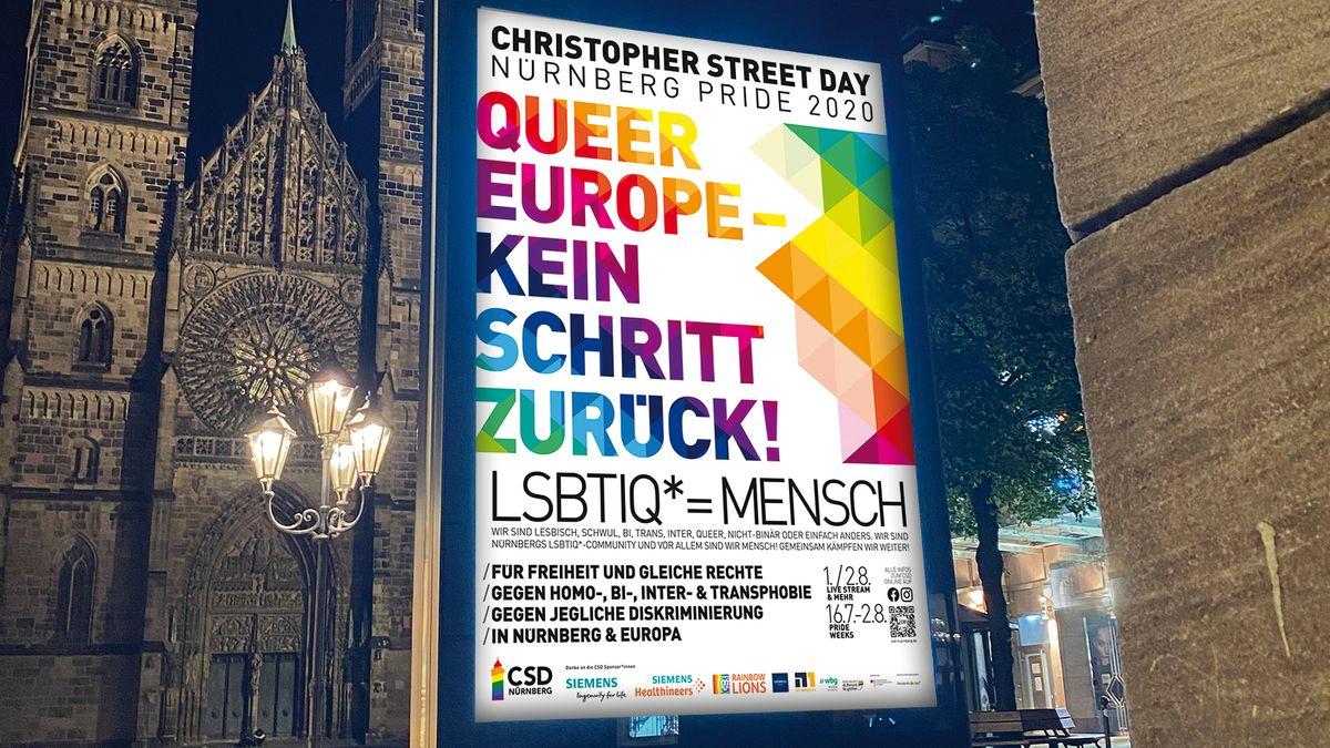 Nürnberger CSD-Plakat 2020.