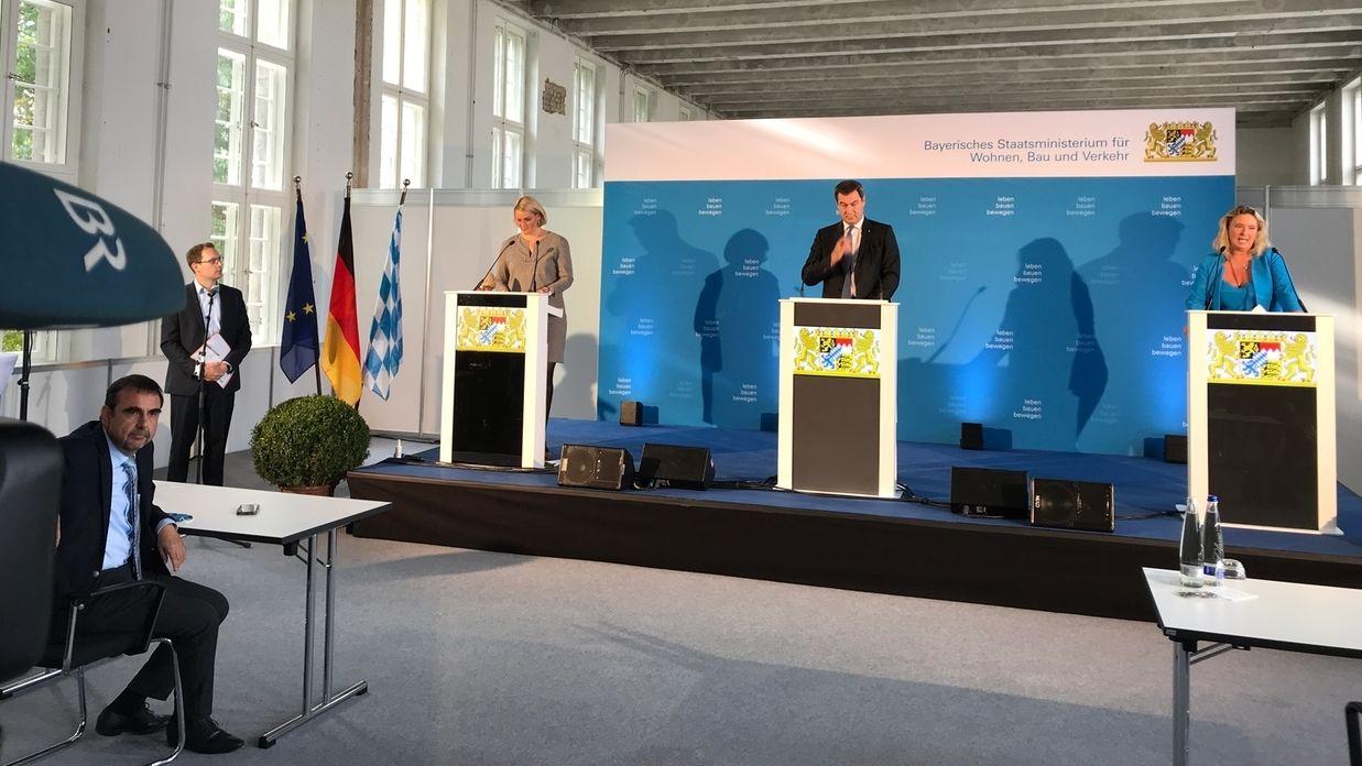 Augsburg: Markus Söder weiht Außenstelle des Bauministeriums ein