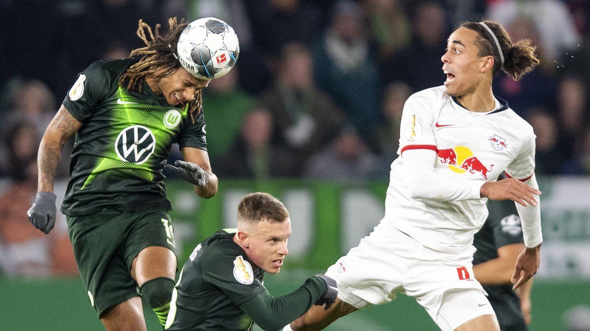 Spielszene Wolfsburg - Leipzig