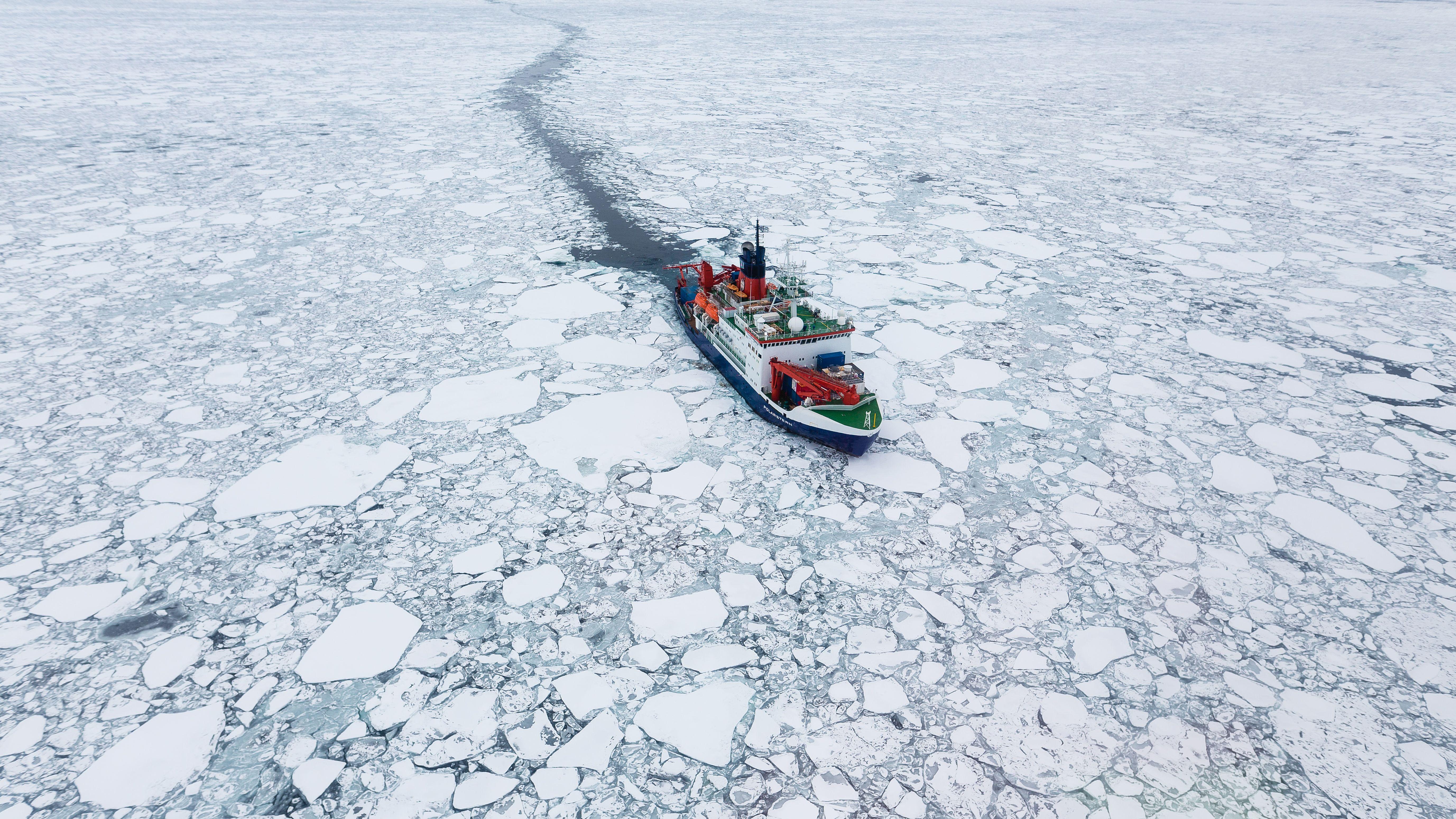 """Mosaic-Expedition der """"Polarstern"""" in der Arktis"""