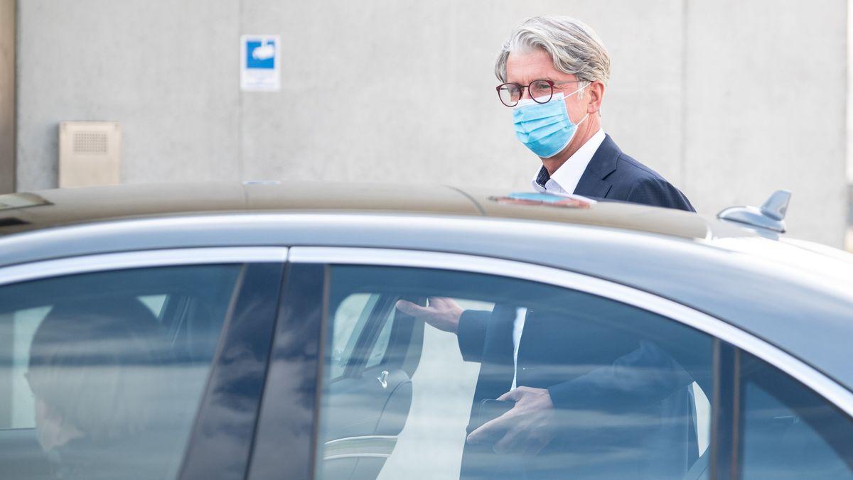 Rupert Stadler nach dem ersten Prozesstag.