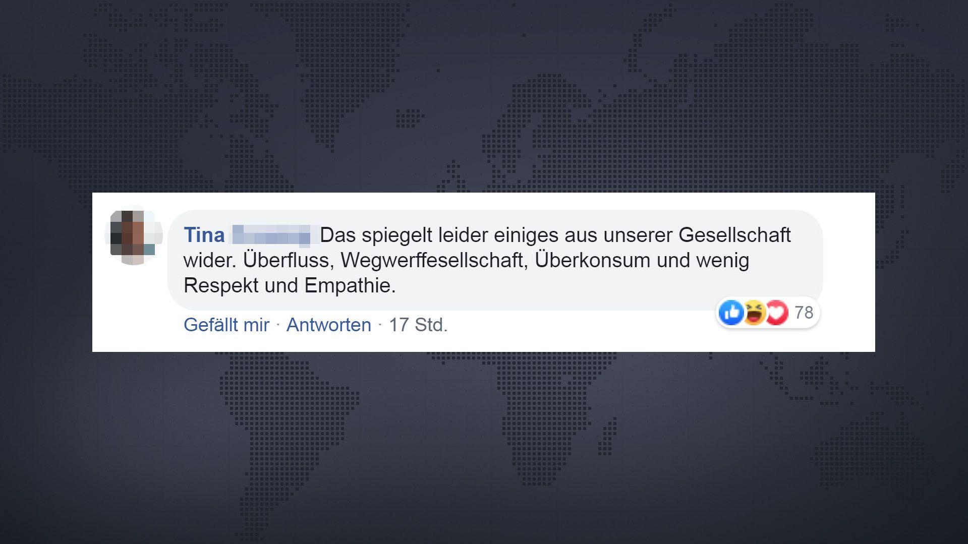 Positive und negative Facebook-Kommentare