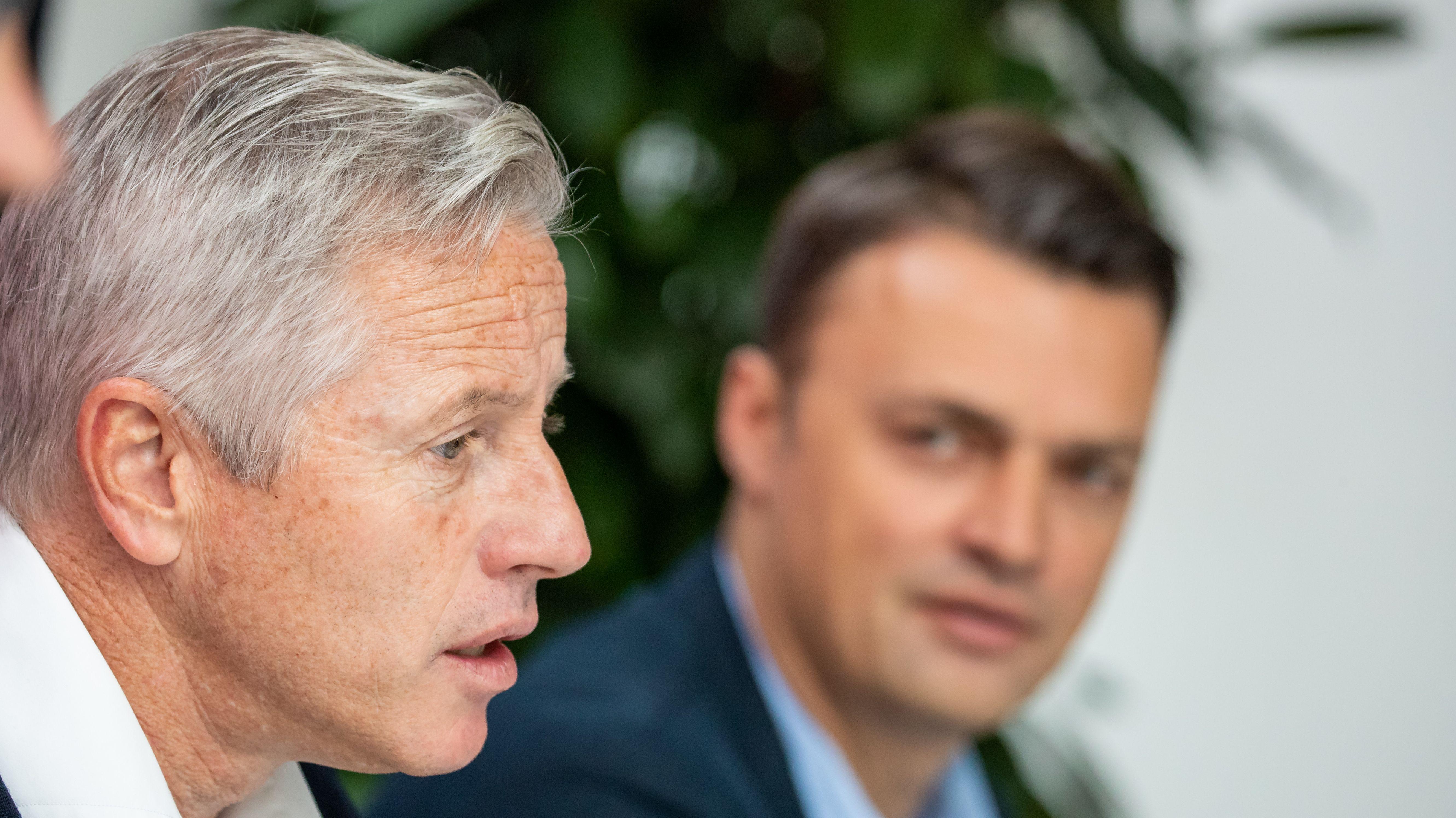 Jens Keller und Robert Palikuca