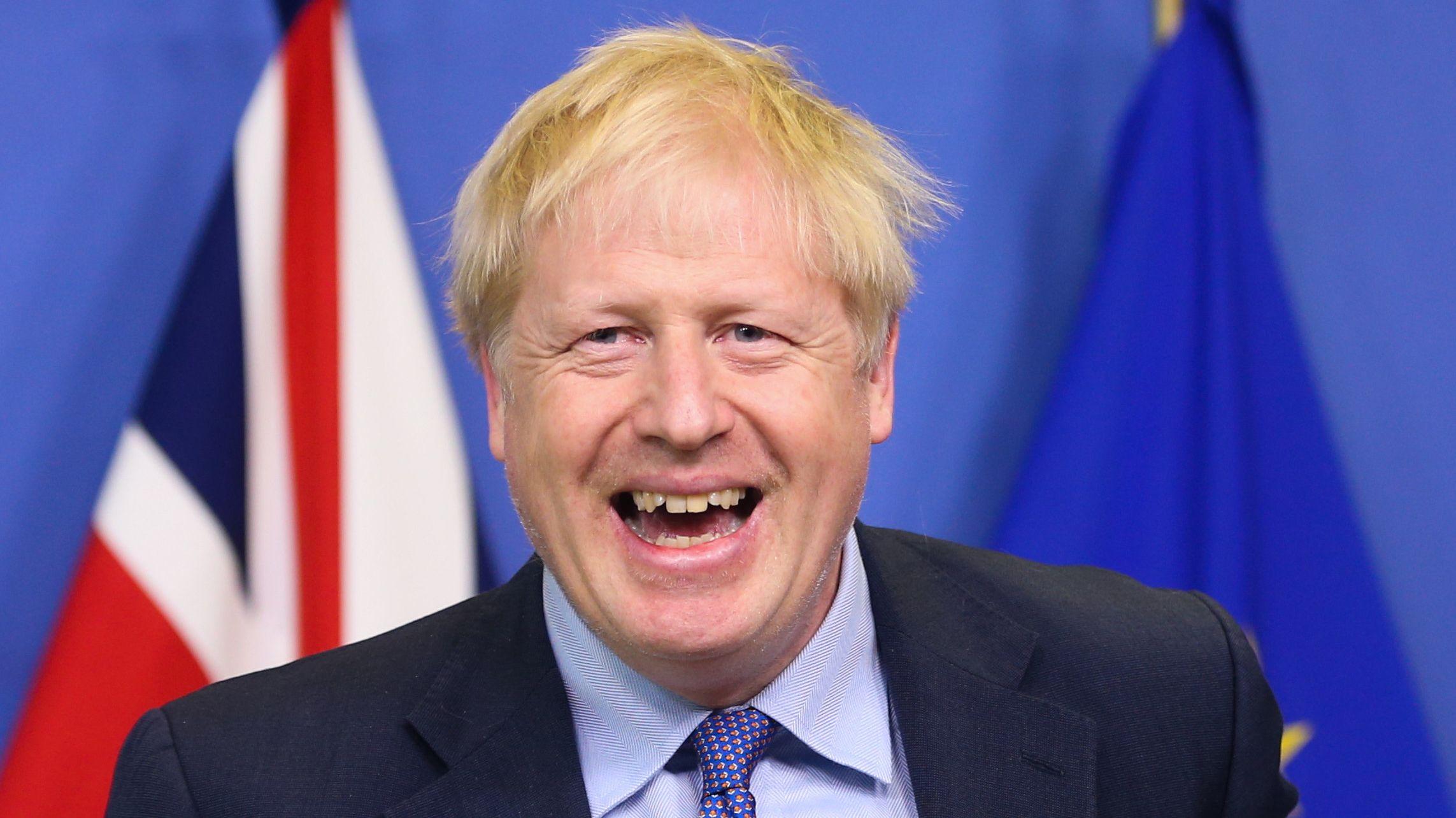 Der britische Premierminister Boris Johnson am 17.10. in Brüssel