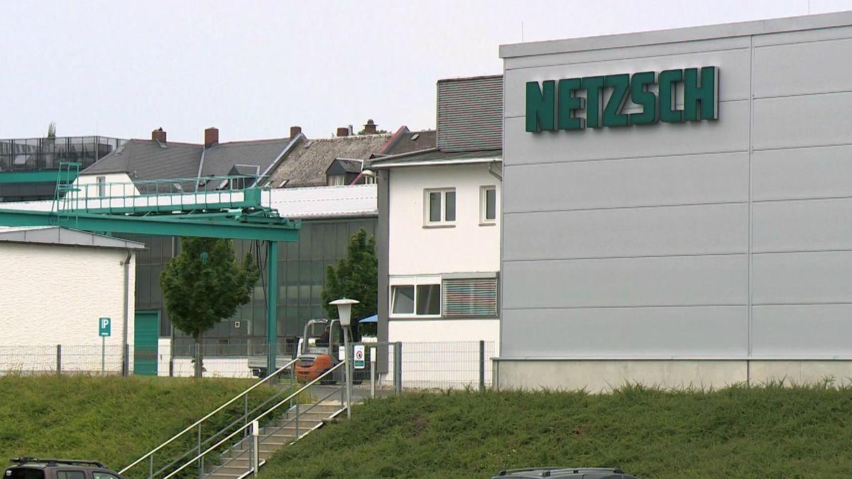 Das Firmengebäude von Netzsch in Selb