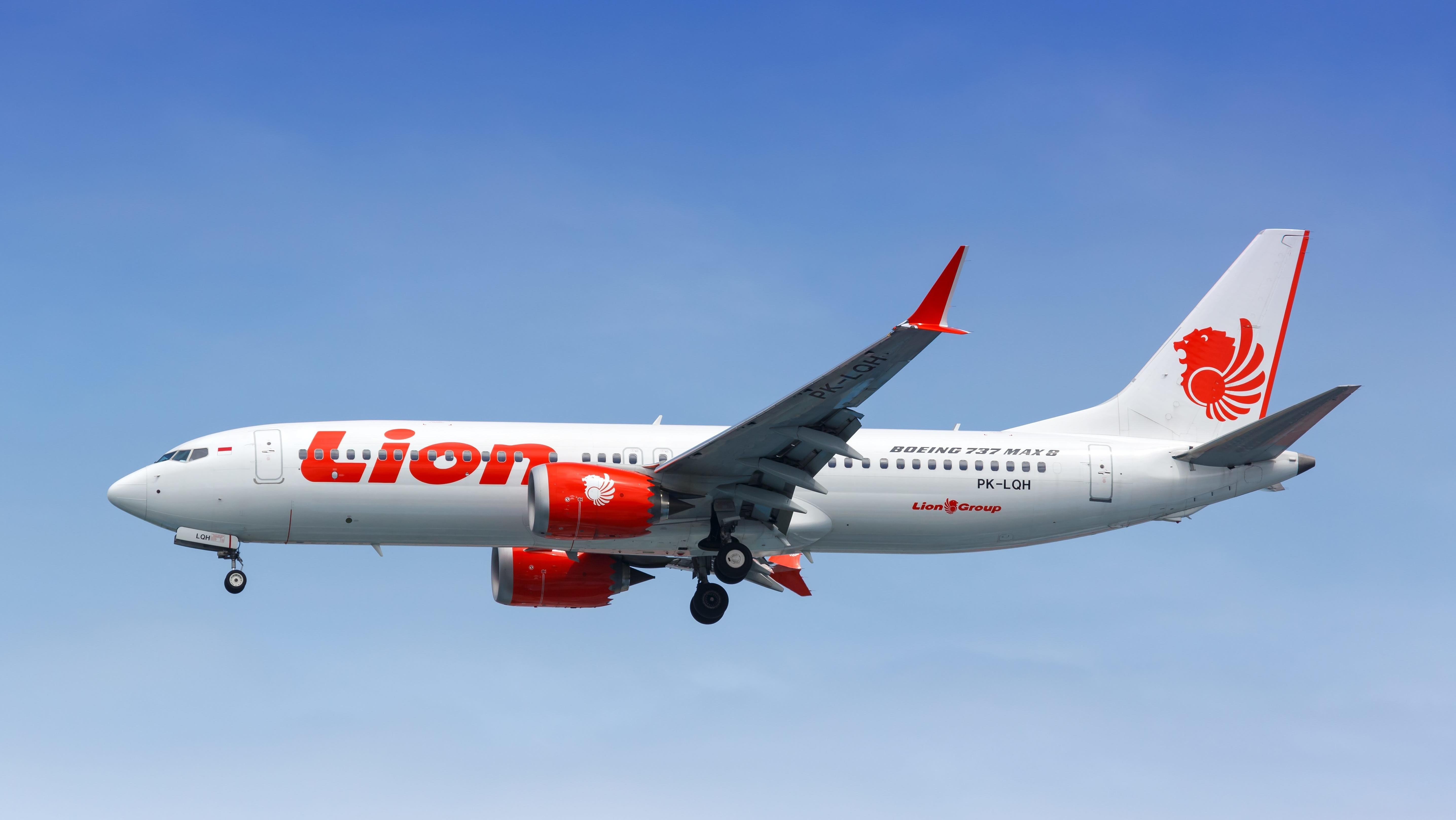 Boeing 737 Max 8 der Lion Air