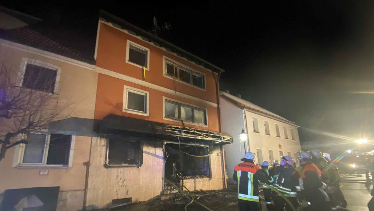 Das ausgebrannte Haus in Auerbach, Kreis Amberg-Sulzbach