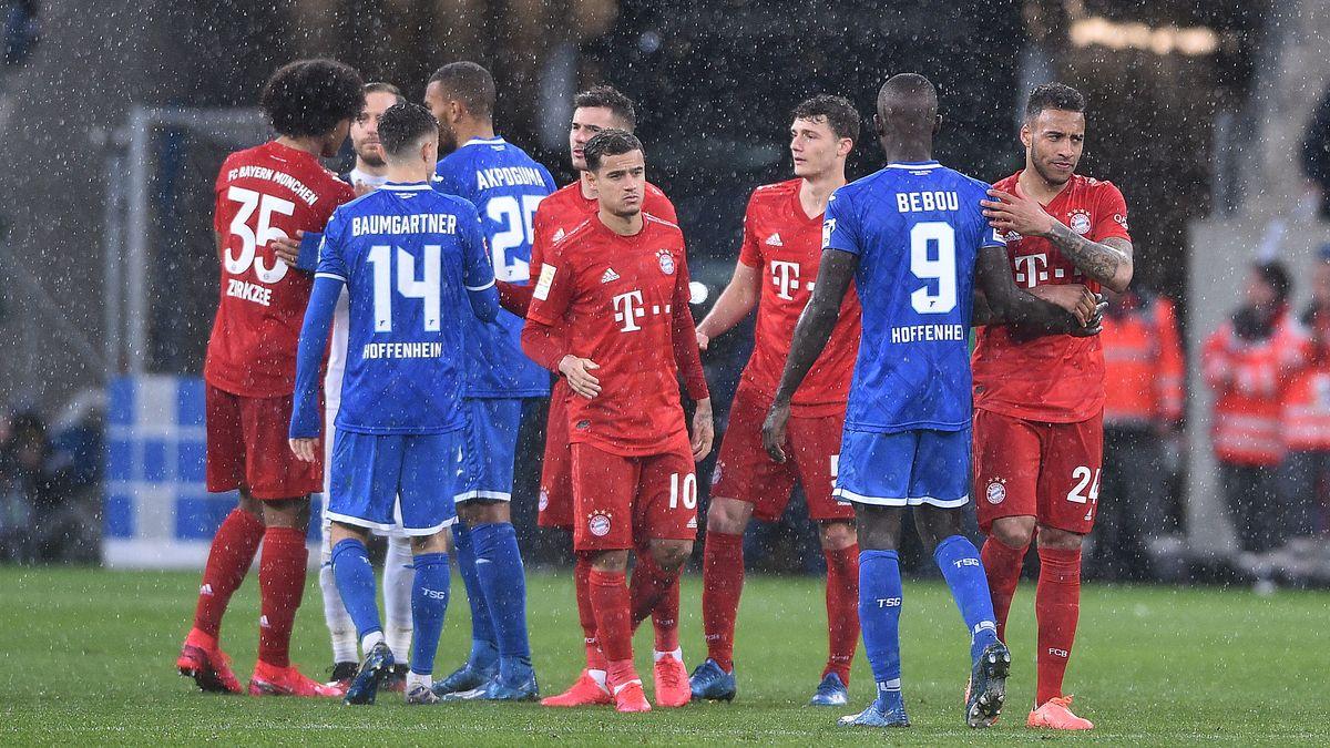 Hoffenheim- und Bayernspieler nach dem Ende des Skandalspiels