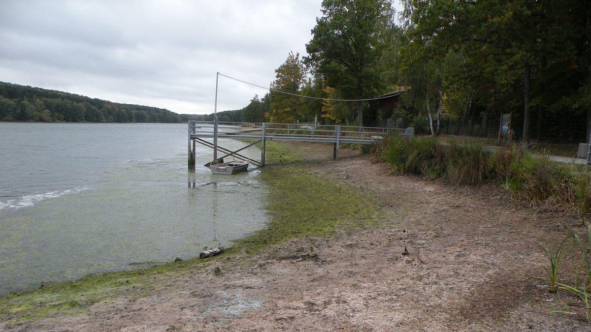 Elltershäuser See bei Stadtlauringen im Landkreis Schweinfurt