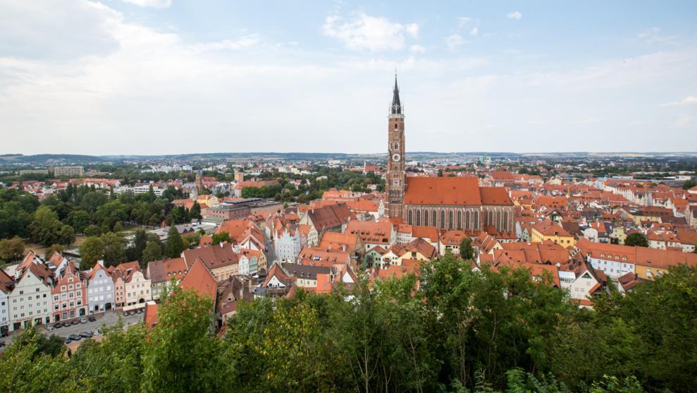 Blick über Landshut