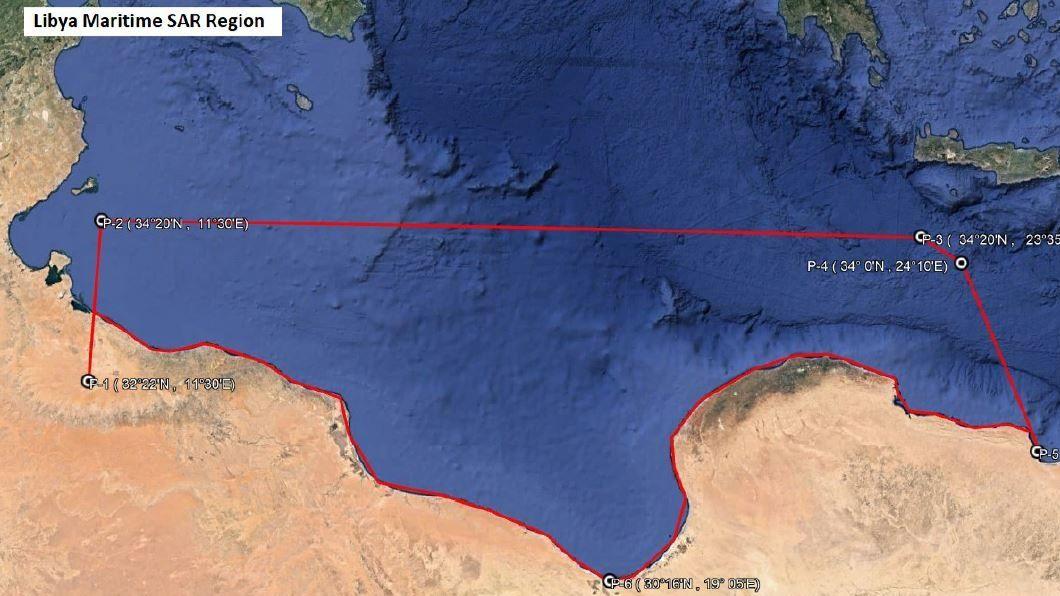 Die libysche Seerettungszone