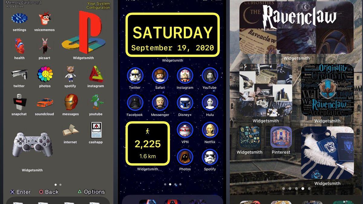 Beispiele für selbst designte iOS-Homescreens