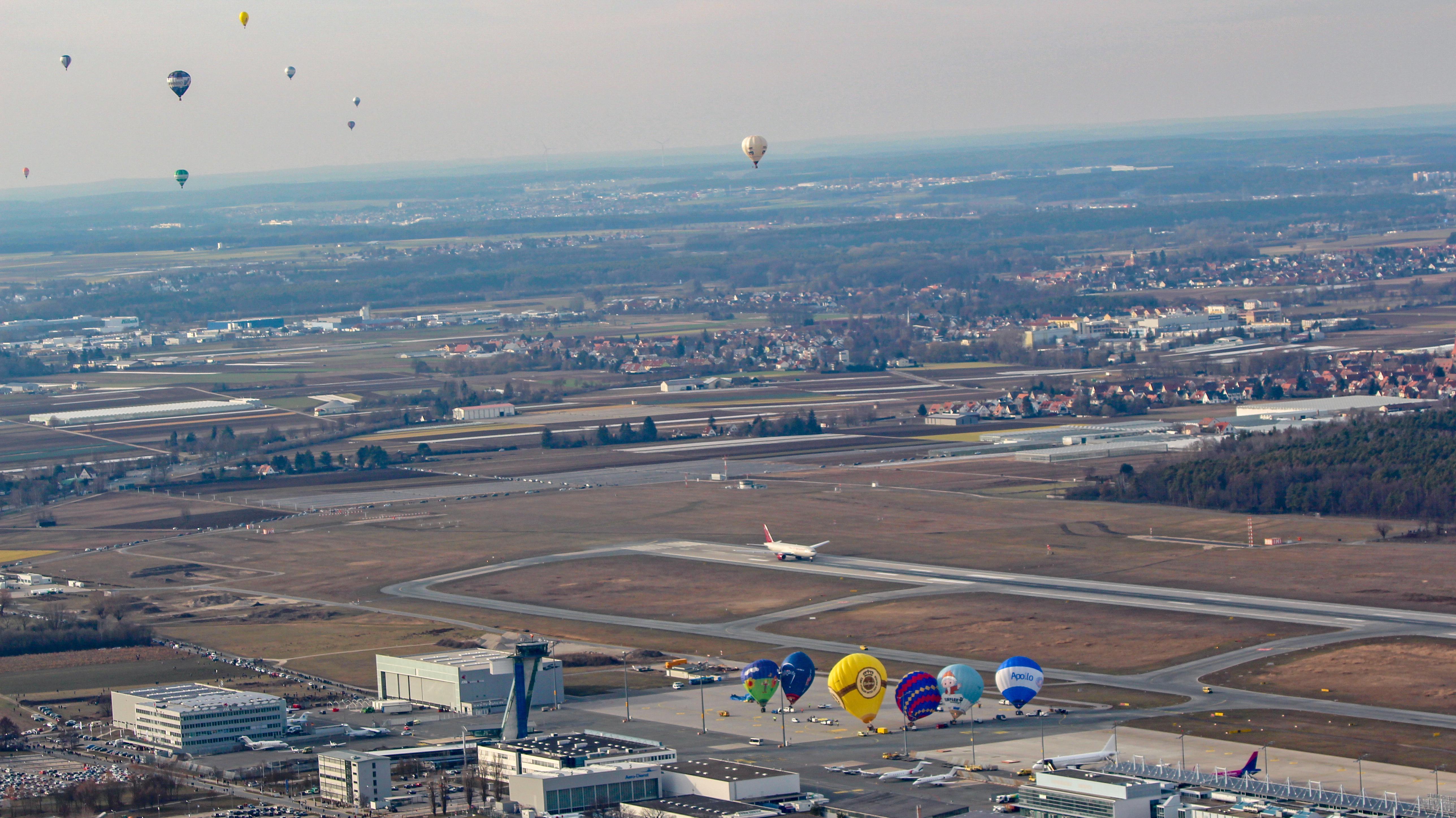 Frankenballoncuß 2019 am Nürnberger Flughafen