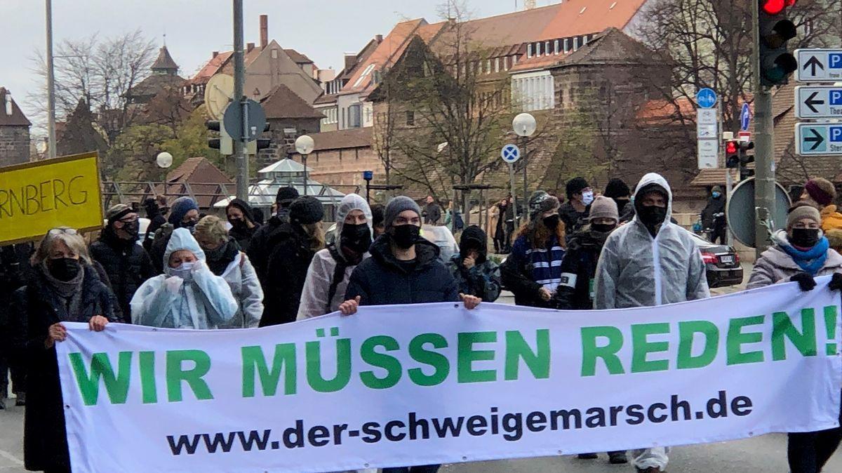 Demonstration gegen Corona-Maßnahmen in Nürnberg am 22.11.2020