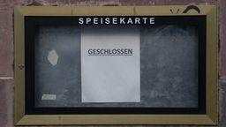Symbolbild: Speisekarte geschlossen | Bild:dpa