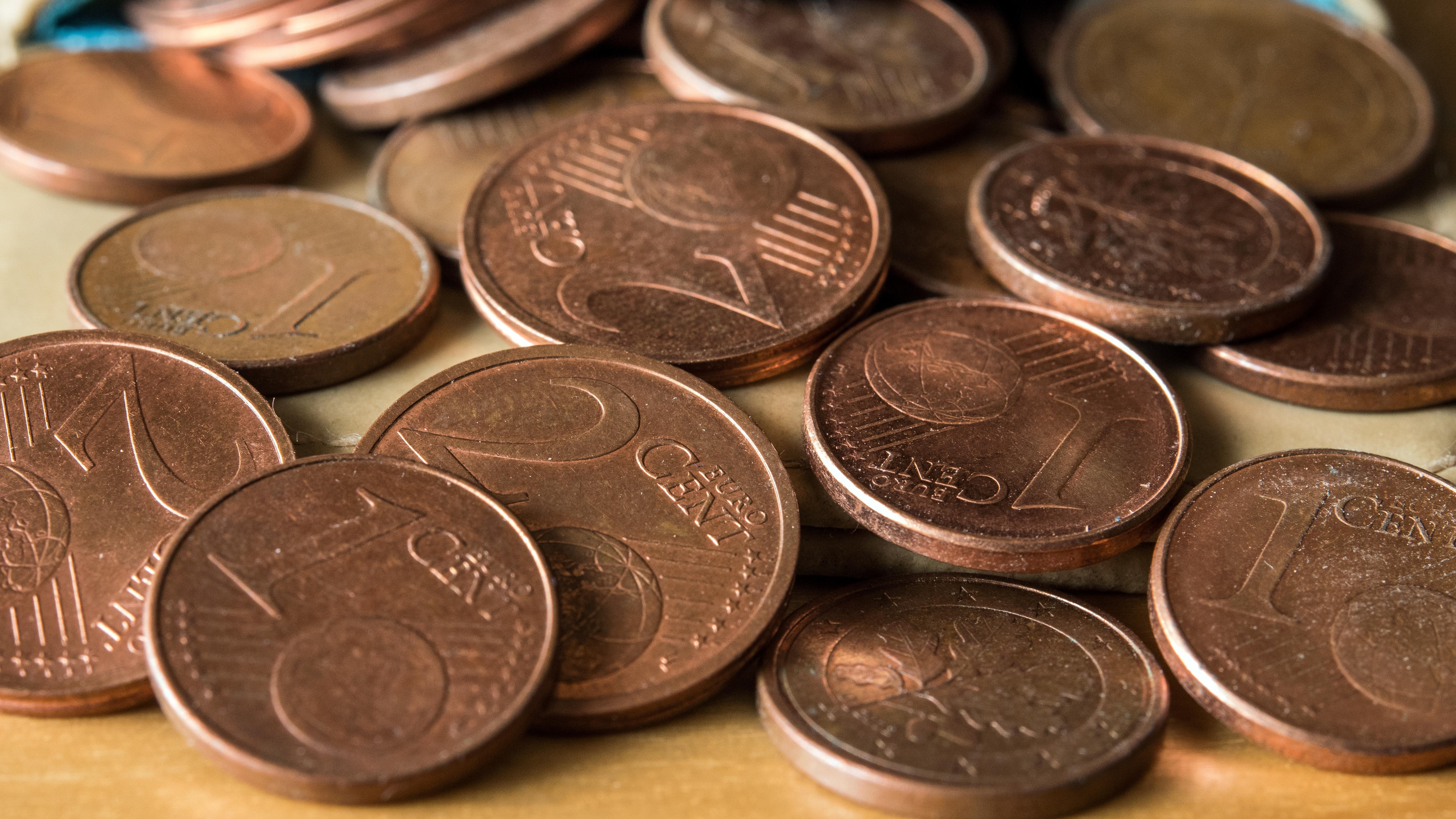 Ein- und Zwei-Euro-Cent-Münzen