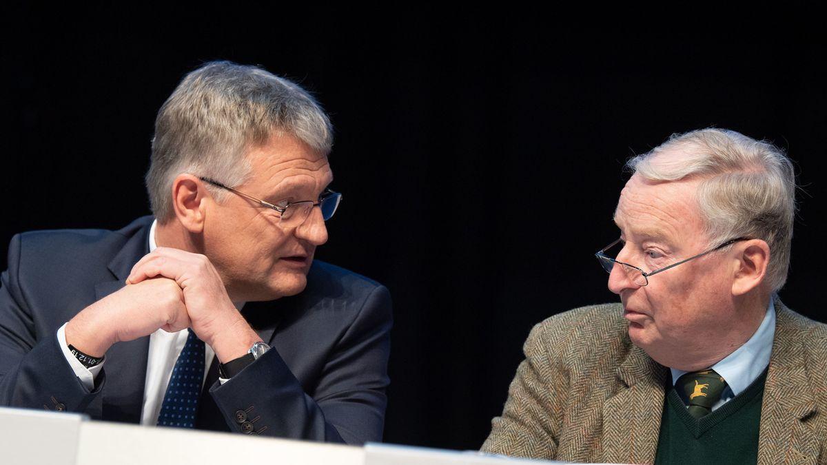 Jörg Meuthen (l), Bundessprecher der AfD, und Alexander Gauland, Bundessprecher der AfD (Archivbild)