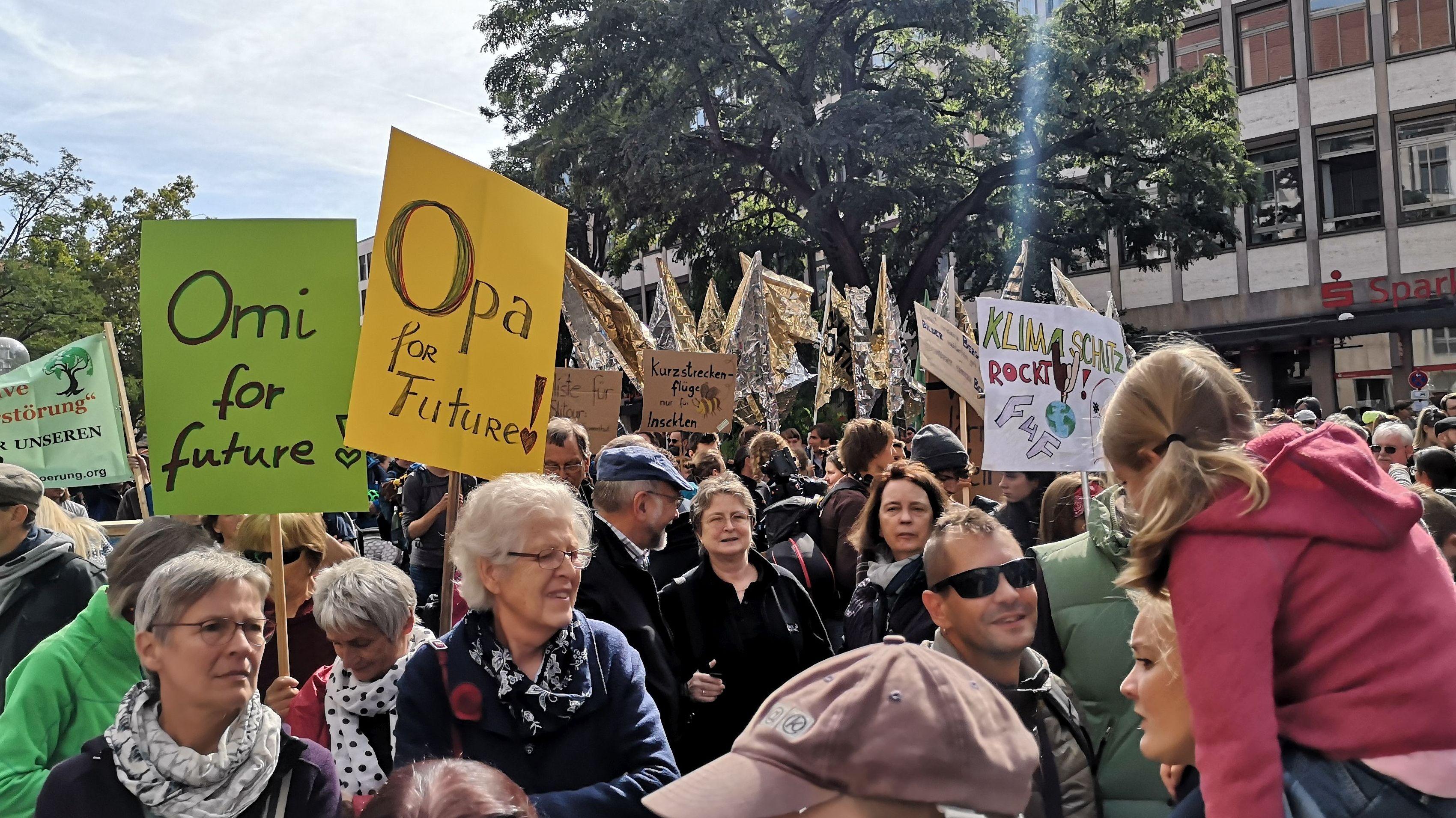 Klimademo in Nürnberg