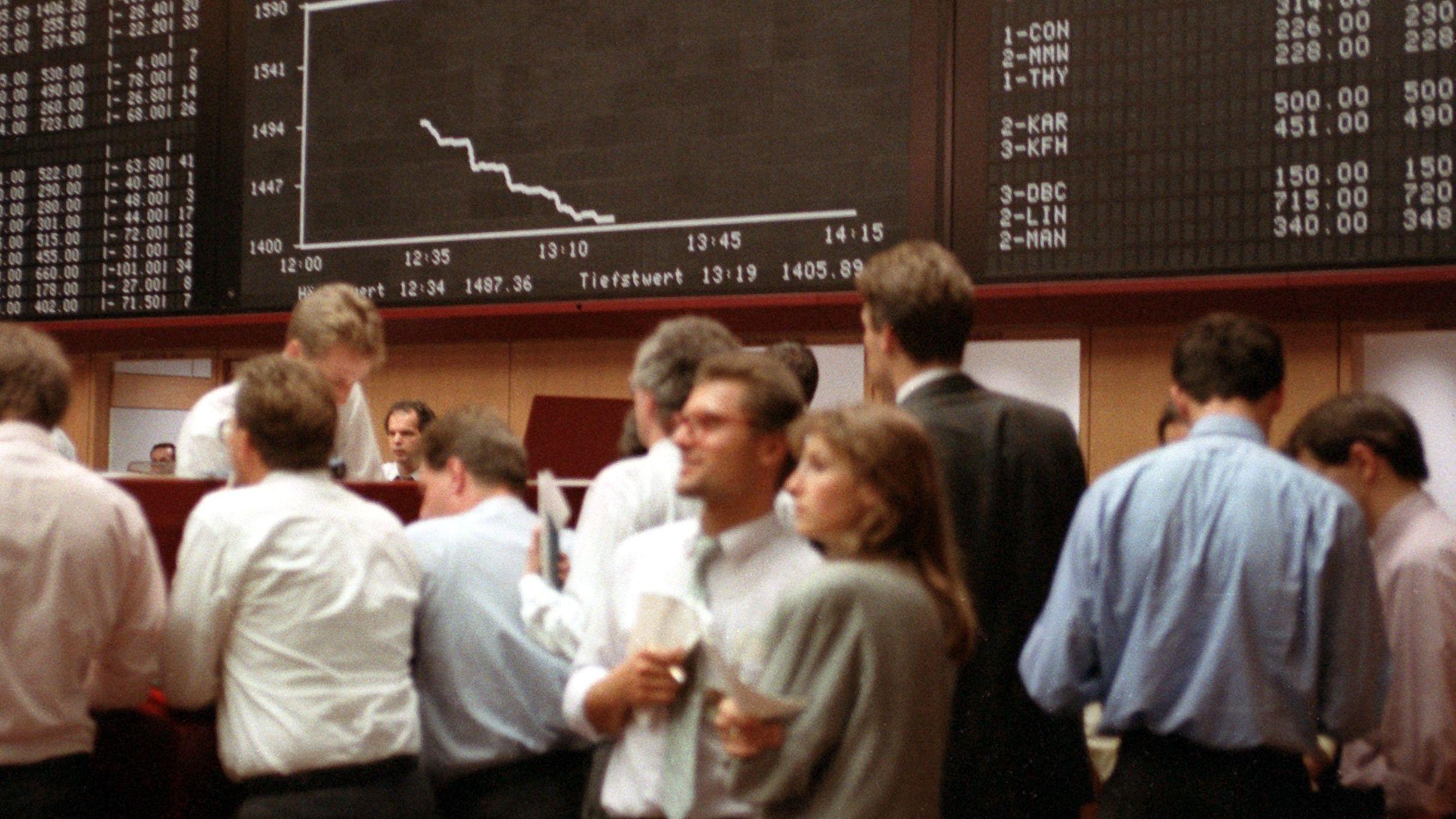 Am 16. 10. 1989 machte die Frankfurter Börse ihre bis dato größten Verluste - gut 13 Prozent.