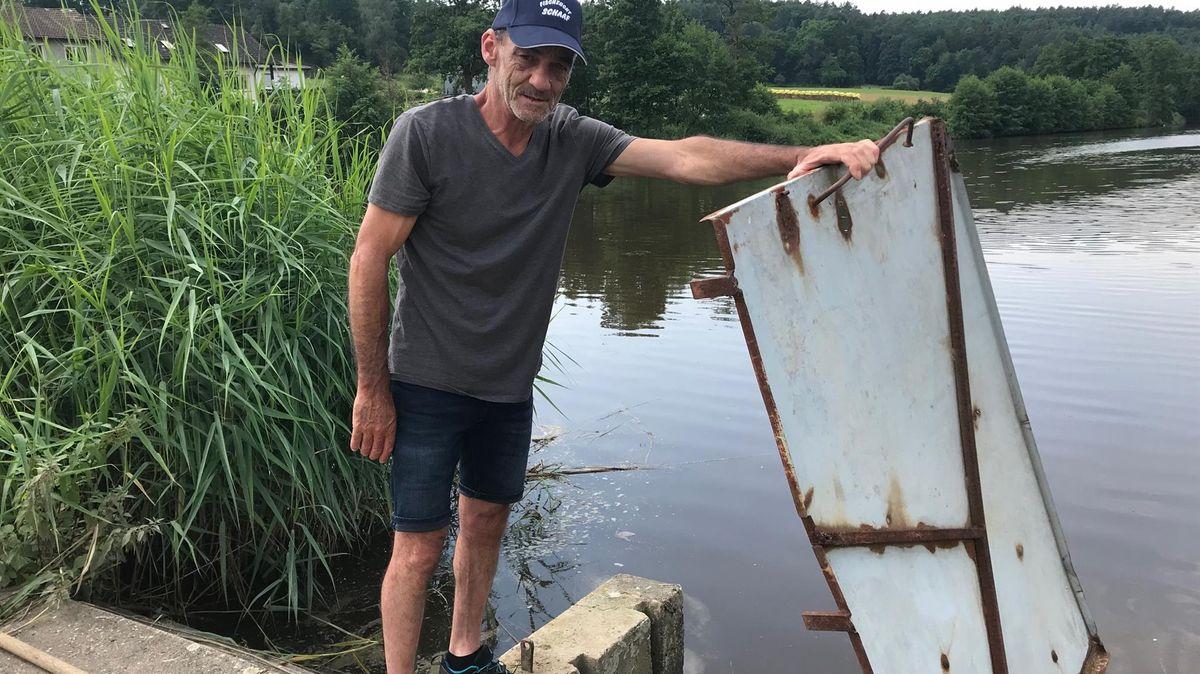Fränkische Teichwirte gehen in Überschwemmung unter