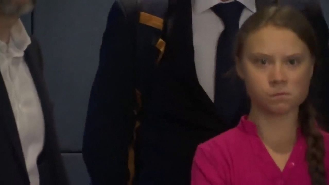 Greta Thunberg schaut giftig