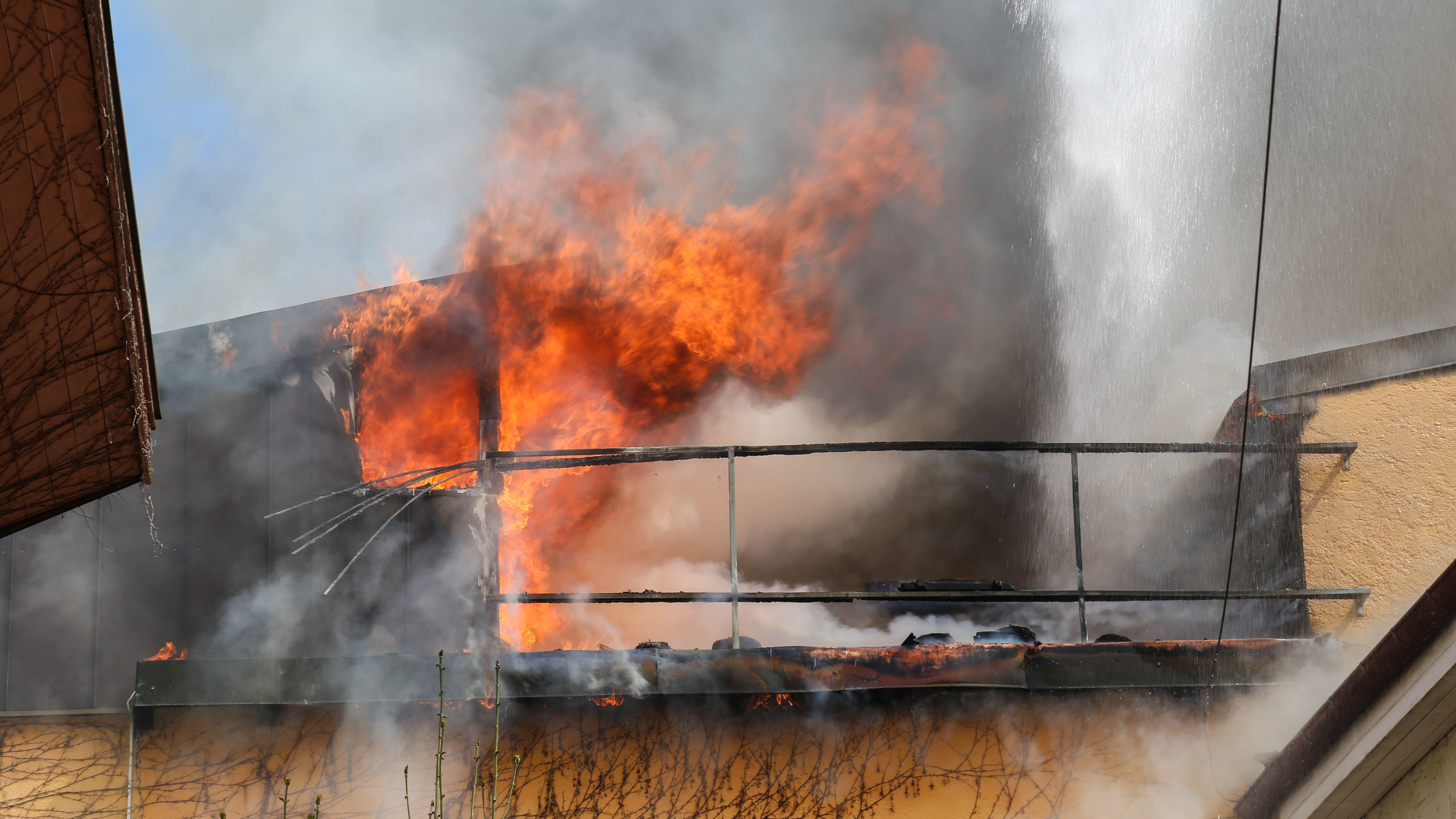 Feuer in der Murnauer Altstadt am 16.04.2020.