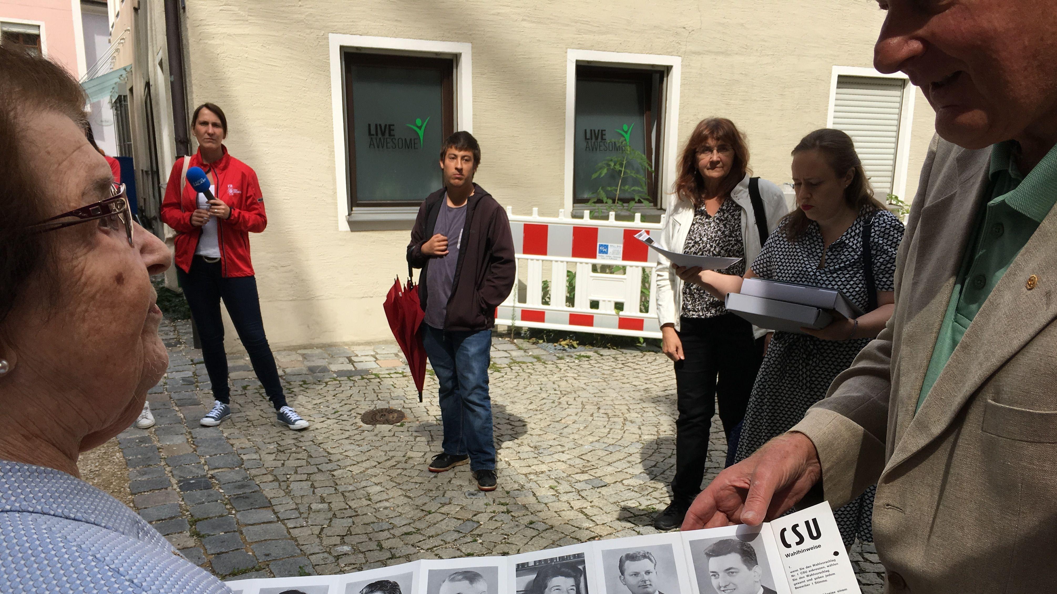 Erinnerung an 1968 mit Zeitzeugin Marlies Bauer (CSU).