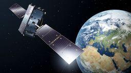 Diese undatierte Illustration der europäischen Raumfahrtbehörde ESA zeigt die künstlerische Darstellung eines Galileo-Full-Operational-Capacity-Satelliten (FOC). | Bild:dpa-Bildfunk/Pierre Carril