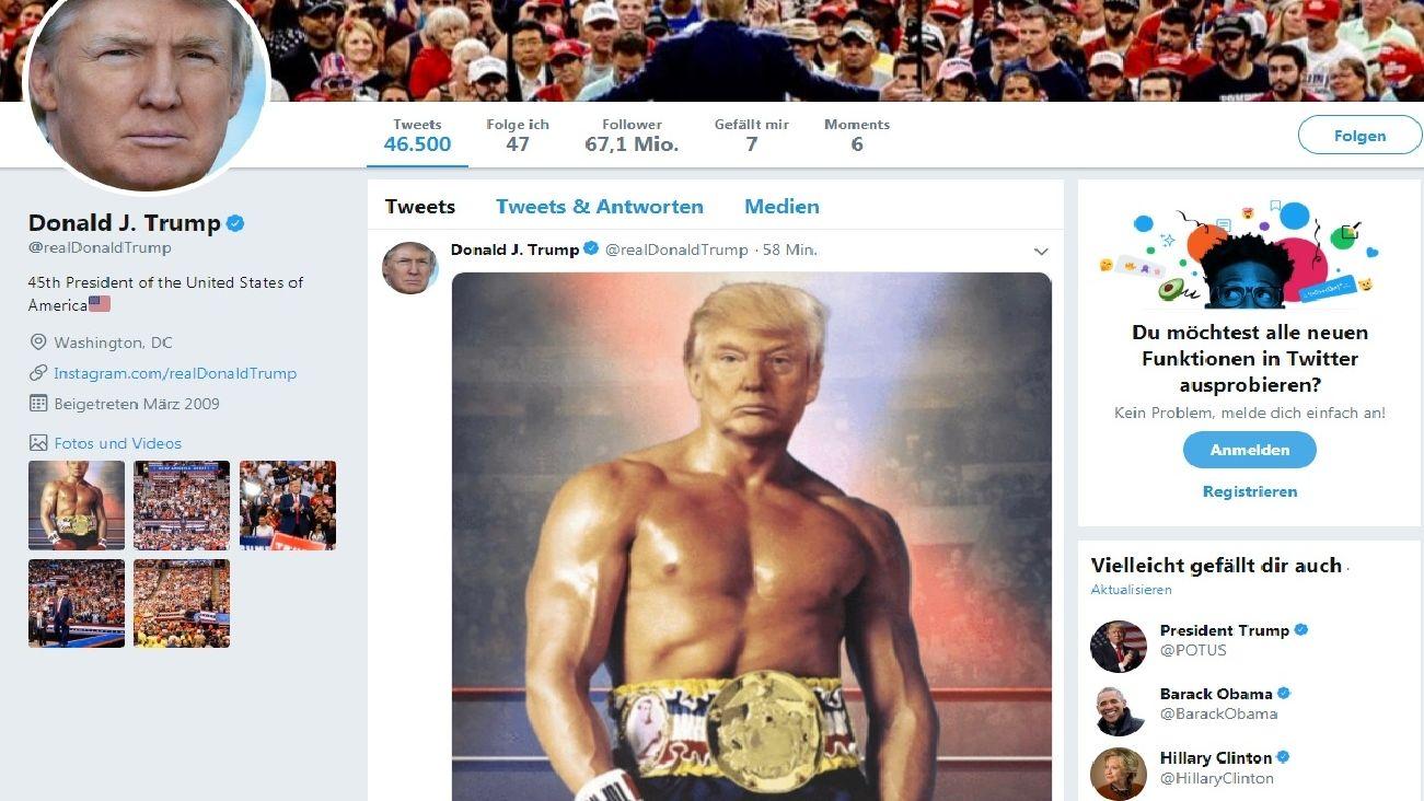 Präsident oben ohne: Trump postet Fotomontage