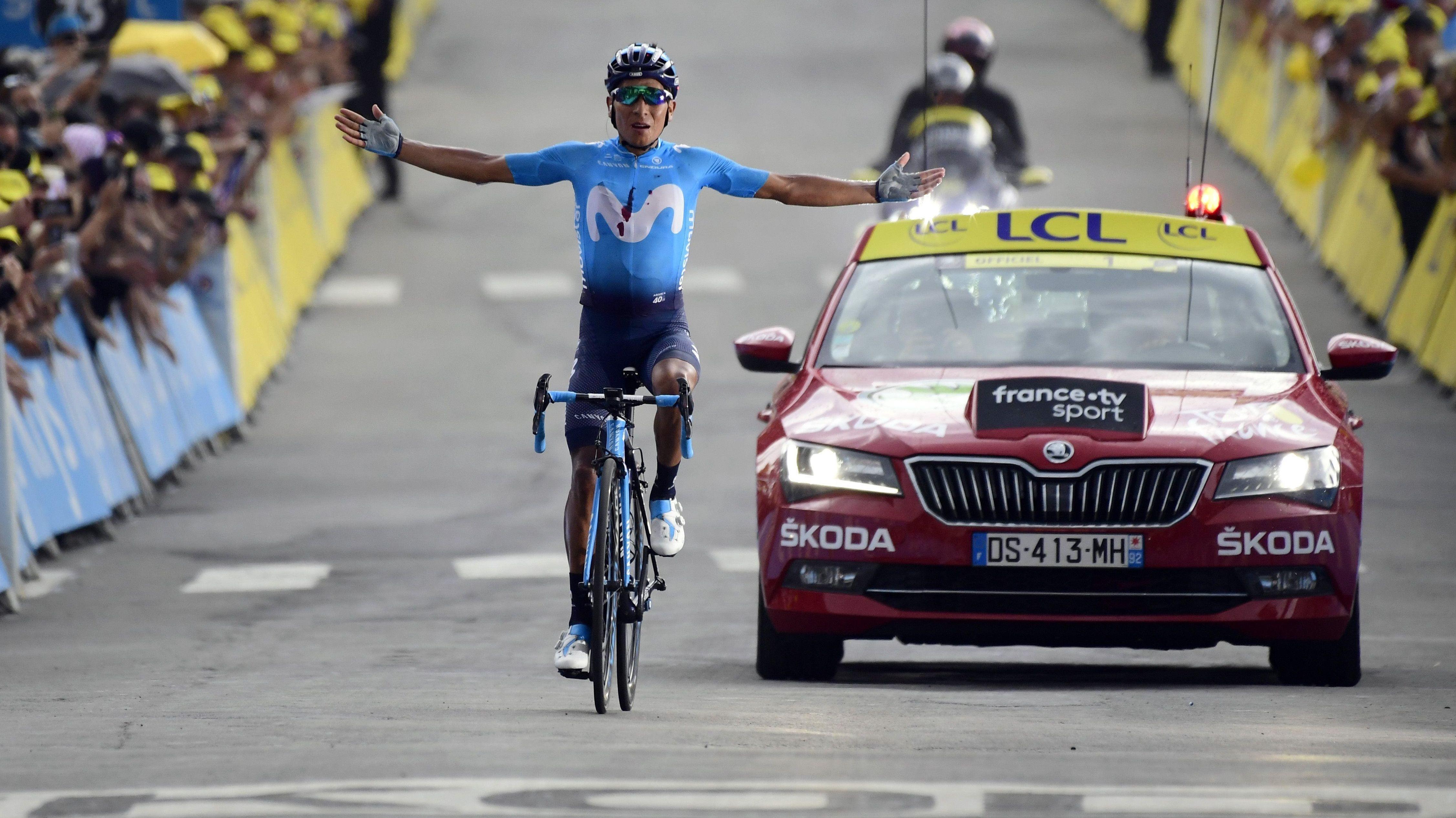 Der Kolumbianer Nairo Quintana gewinnt die 18. Etappe der Tour de France