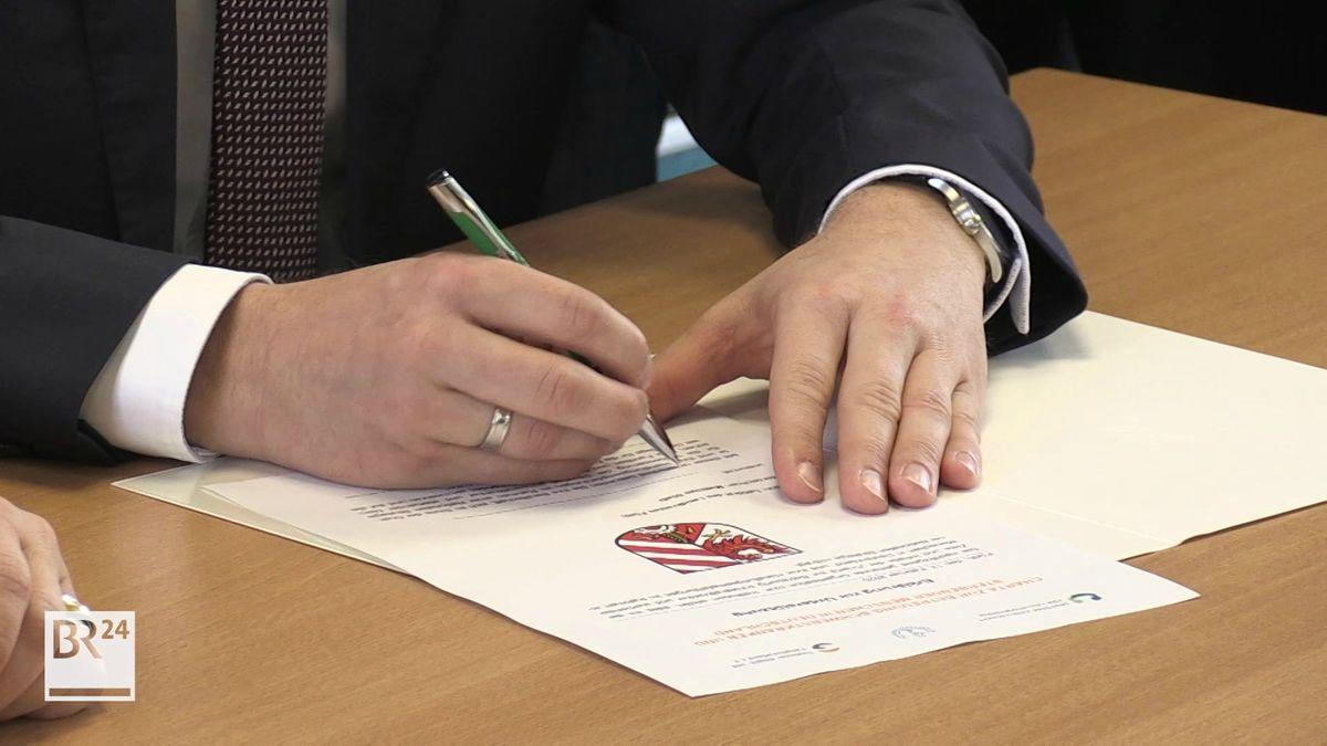 Unterschrift auf Palliativ-Charta