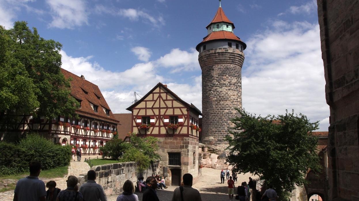 Blick in den Hof der Burg von Nürnberg (Mittelfranken)