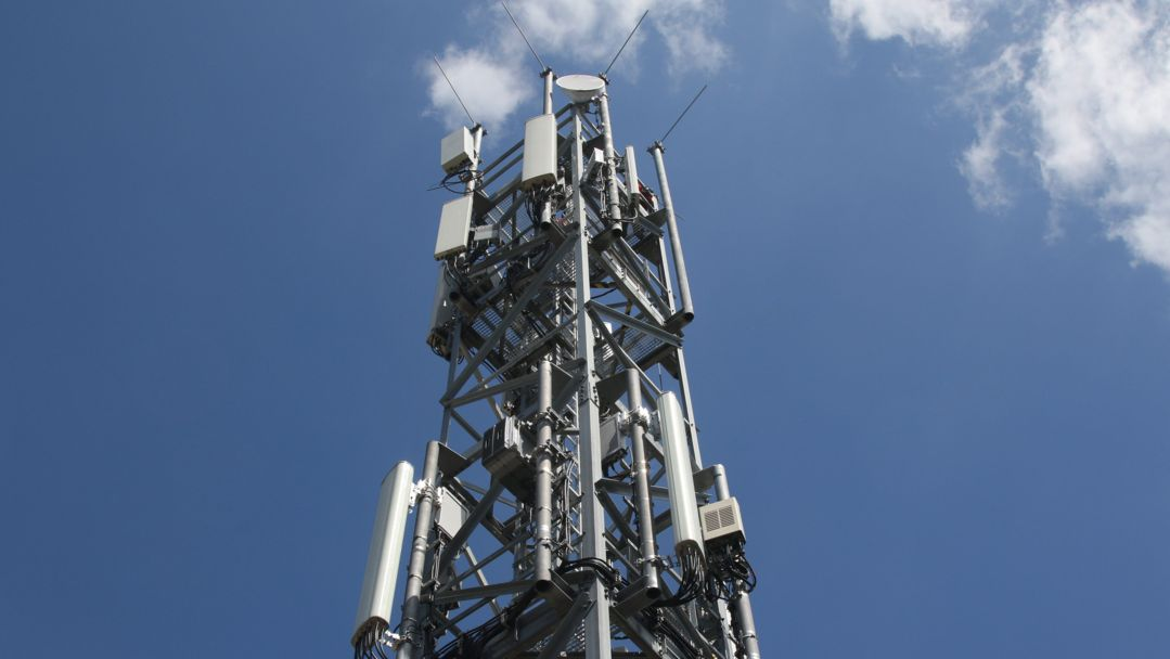 Ein 5G Mobilfunkmast (Symbolbild)
