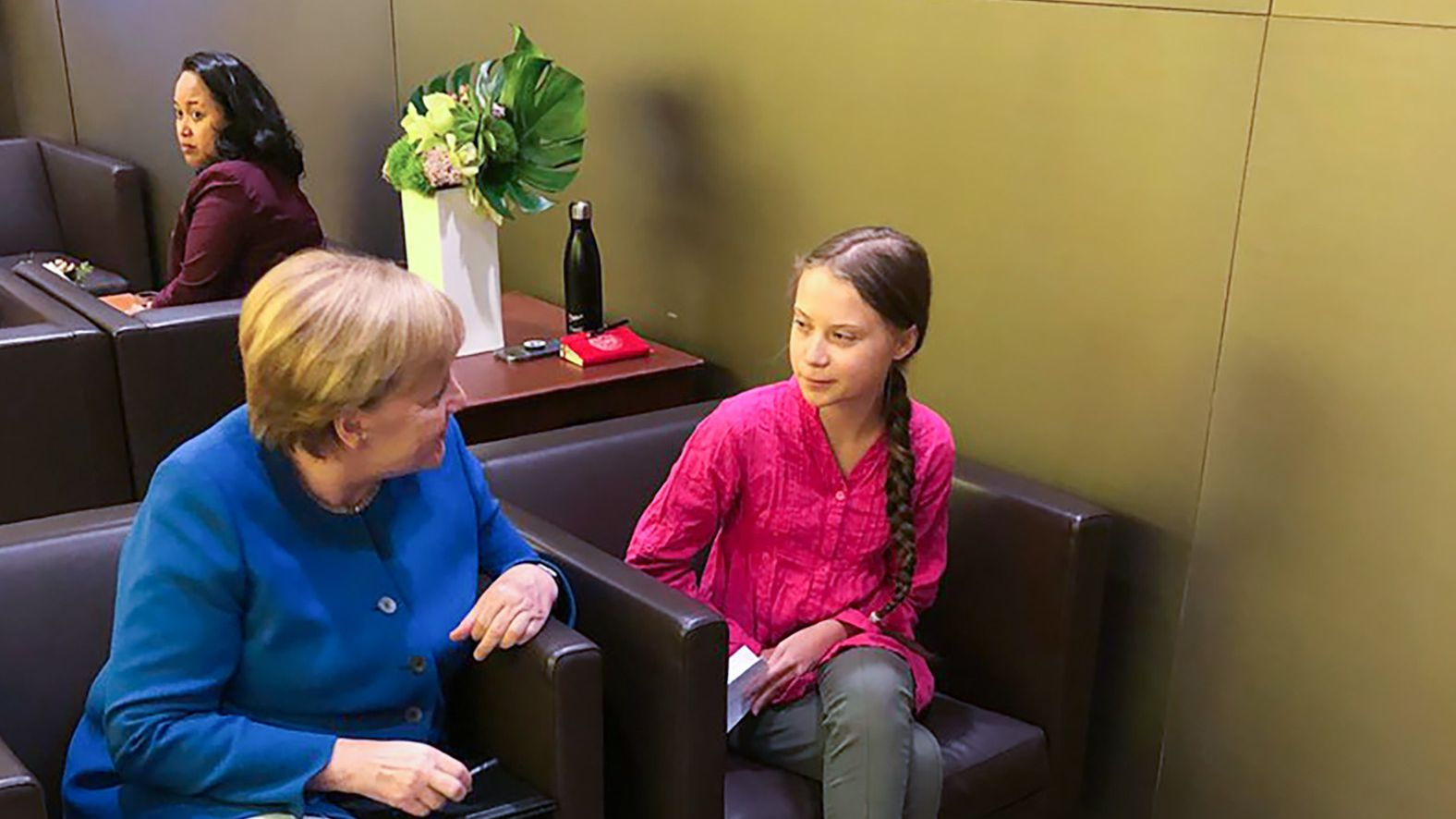 Bundeskanzlerin Angela Merkel (CDU) trifft sich am Rande des UN-Klimagipfels mit der Klimaaktivistin Greta Thunberg.