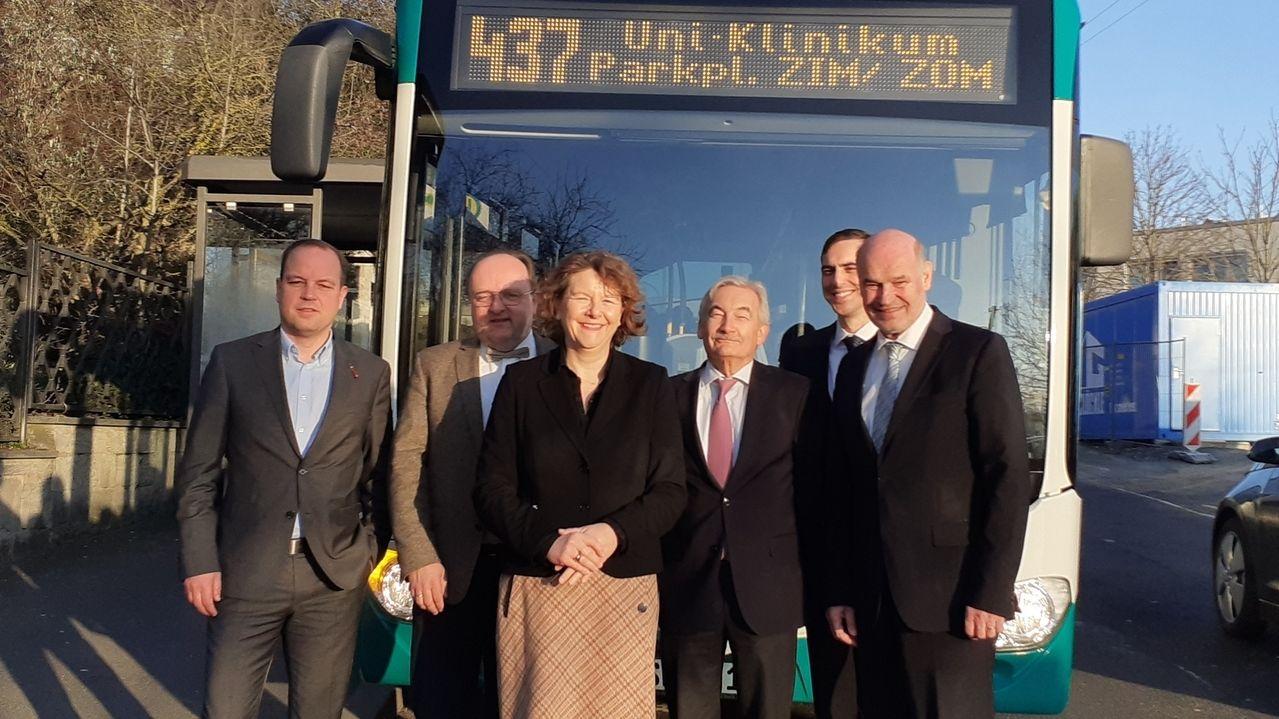 Präsentation Direktbus zur Uniklinik Würzburg