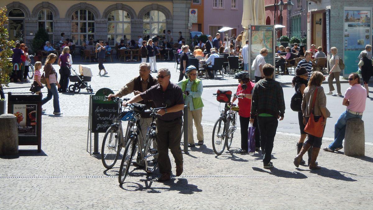 Fahrradfahrer in Würzburg