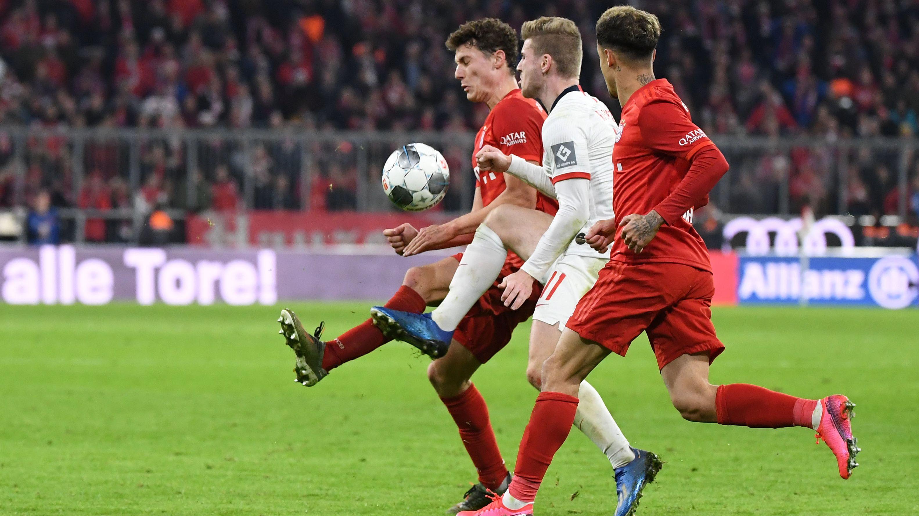 Spielszene aus der Partie FC Bayern gegen Leipzig