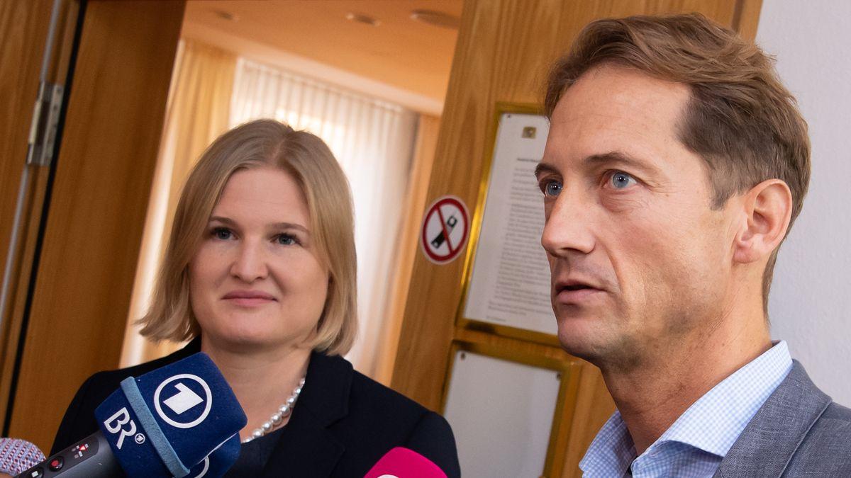 AfD-Politiker Ebner-Steiner und Ingo Hahn