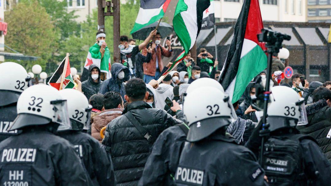 Demonstration in Hamburg gegen das israelische Vorgehen