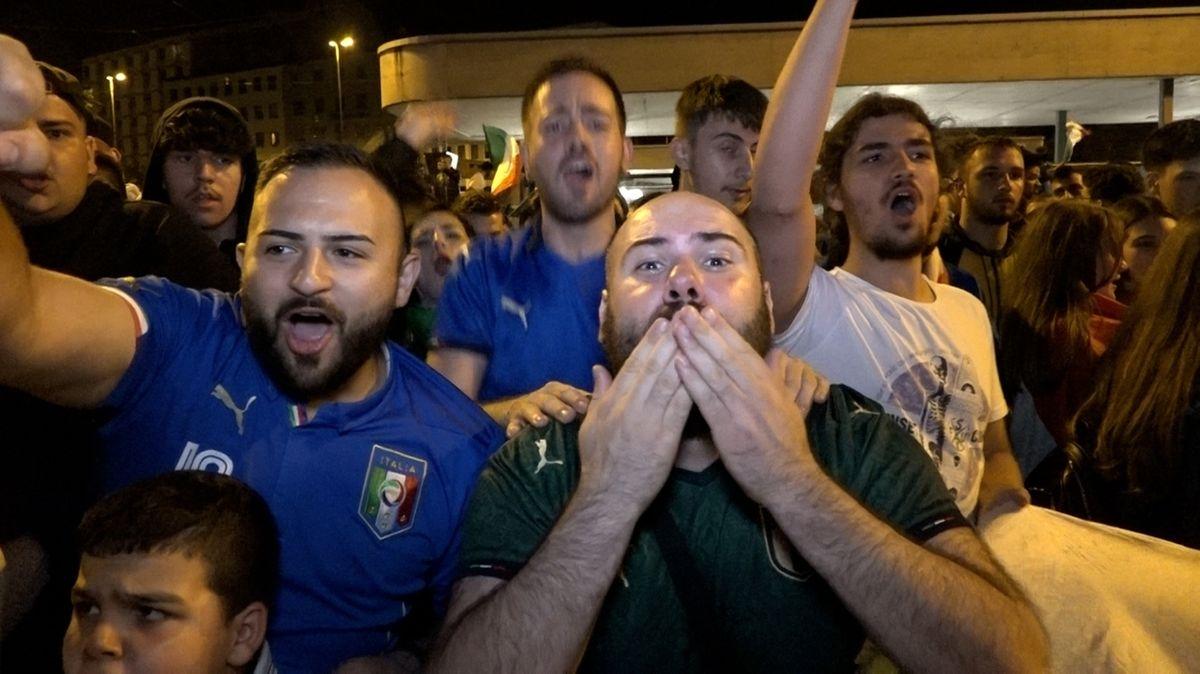 Italien-Fans in Nürnberg