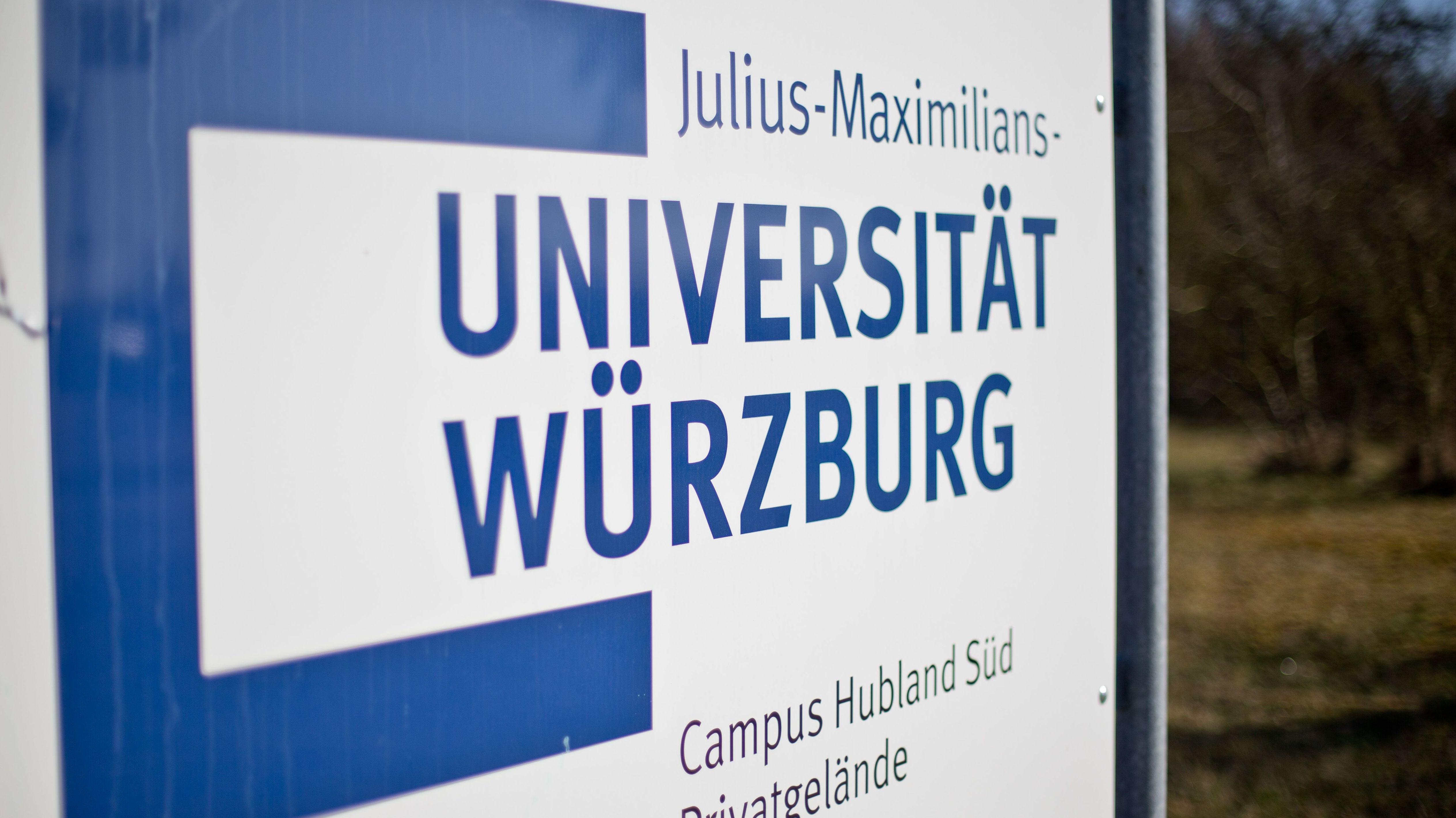 Schild der Universität Würzburg