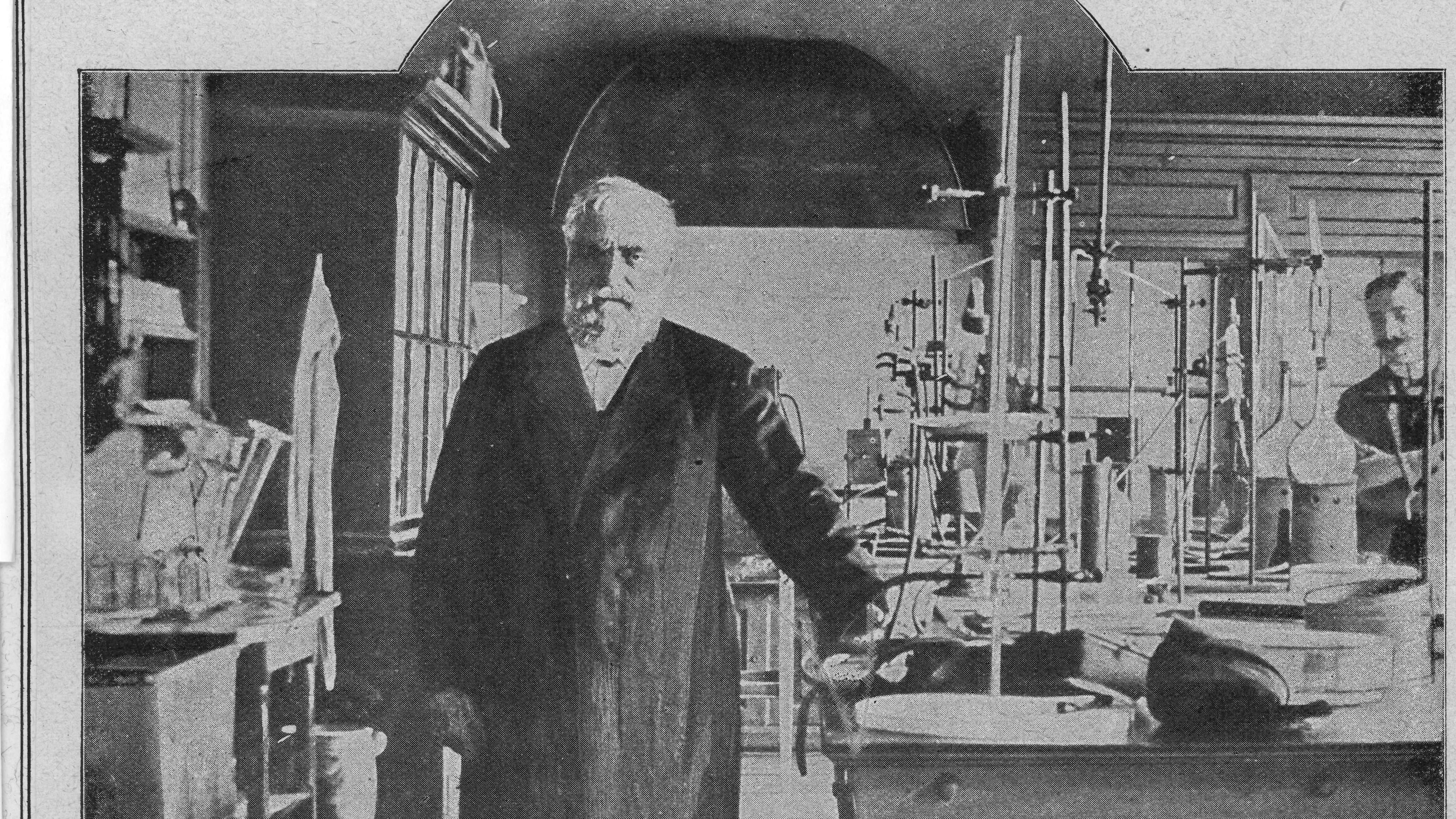 Max Josef von Pettenkofer (1818-1901) im Labor. Er schuf die Grundlagen der neuzeitlichen Hygiene.