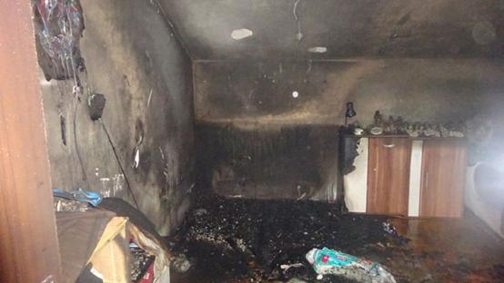 Die ausgebrannte Wohnung