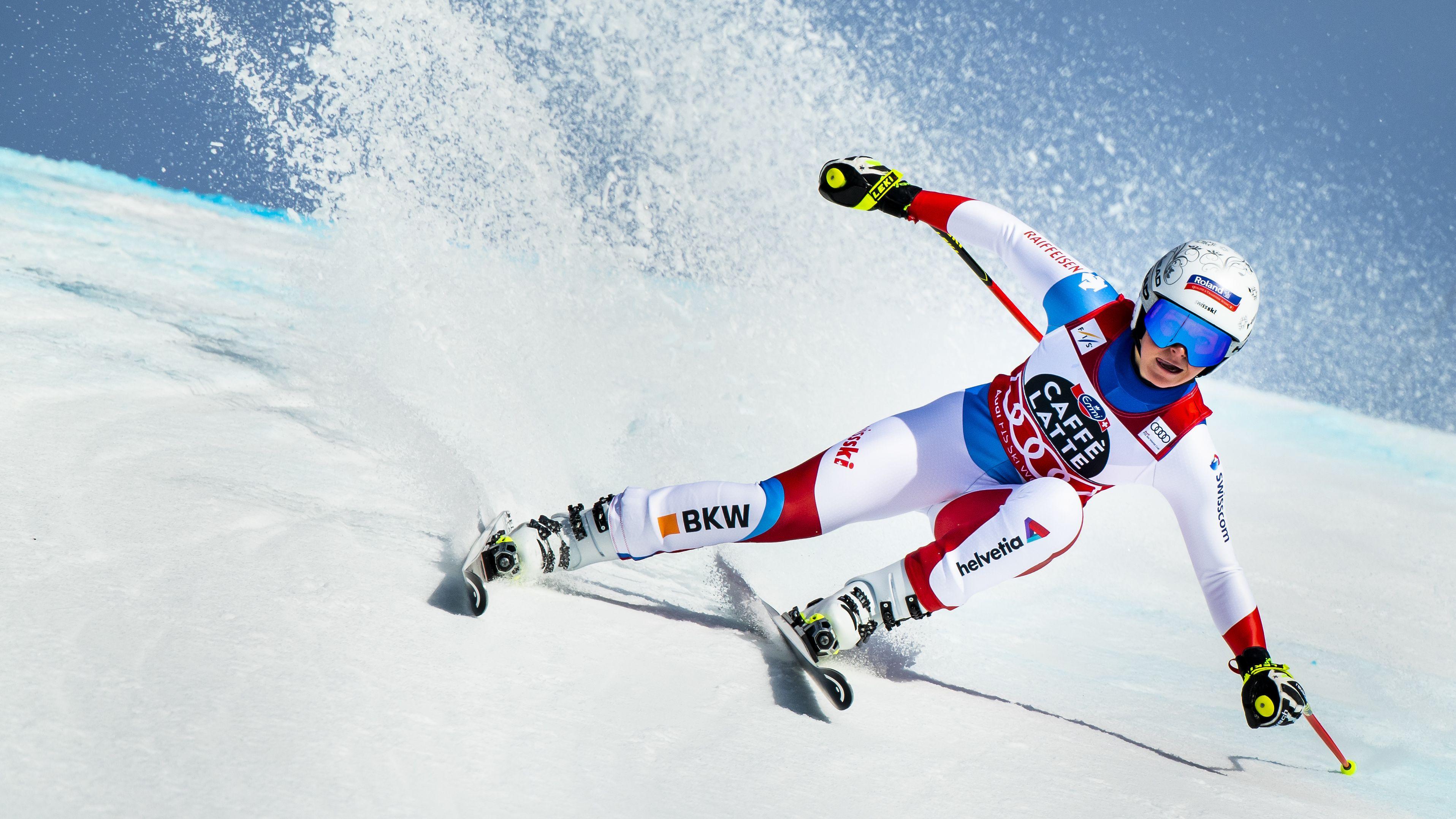 Weltcup-Gesamtsiegerin in der Abfahrt: Corinne Suter