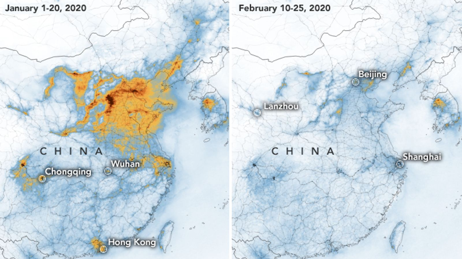 Saubere Luft In China Wegen Coronavirus Br24