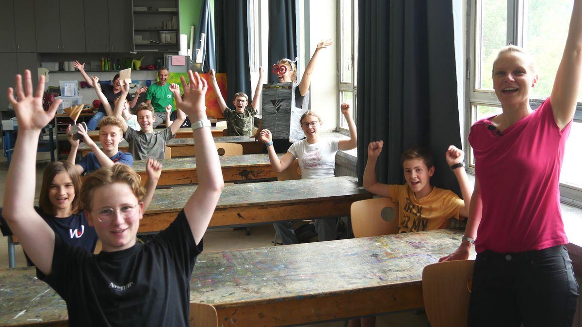 Wirsberg-Schüler freuen sich über ihren Preis