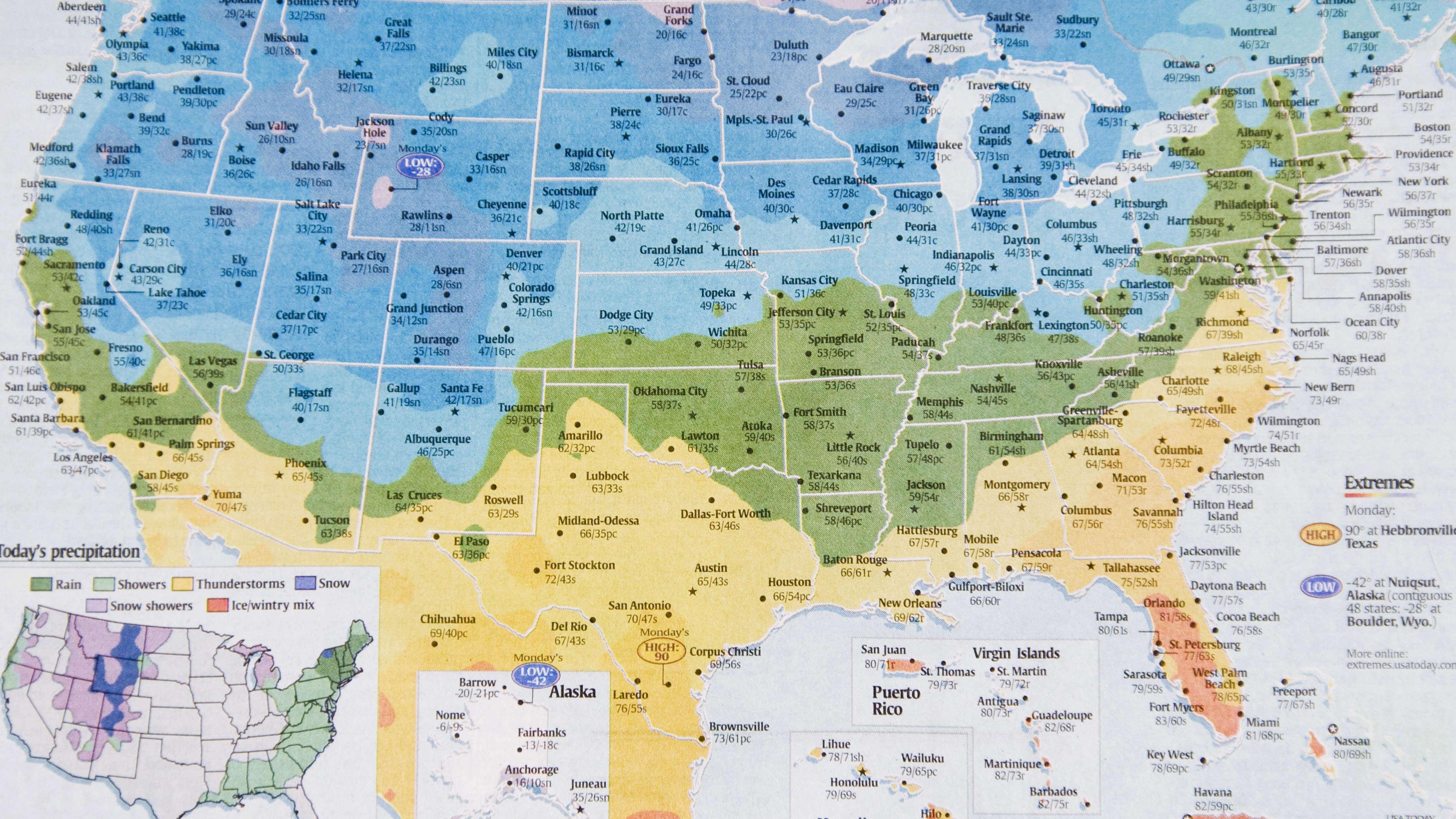 Die USA, ein großes Land mit verschiedenen Klimazonen. Ganz schlecht, wenn da wegen eines Trojaners die Wettervorhersage ausfallen muss.