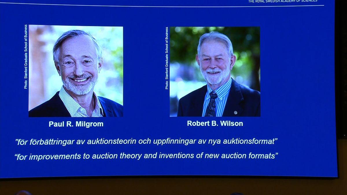 Der Wirtschaftsnobelpreis geht in diesem Jahr an die US-Ökonomen Paul R. Milgrom und Robert B. Wilson für ihre Forschung zur Auktionstheorie.