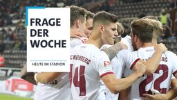Jubelnde Spieler 1. FC Nürnberg   Bild:picture-alliance/dpa