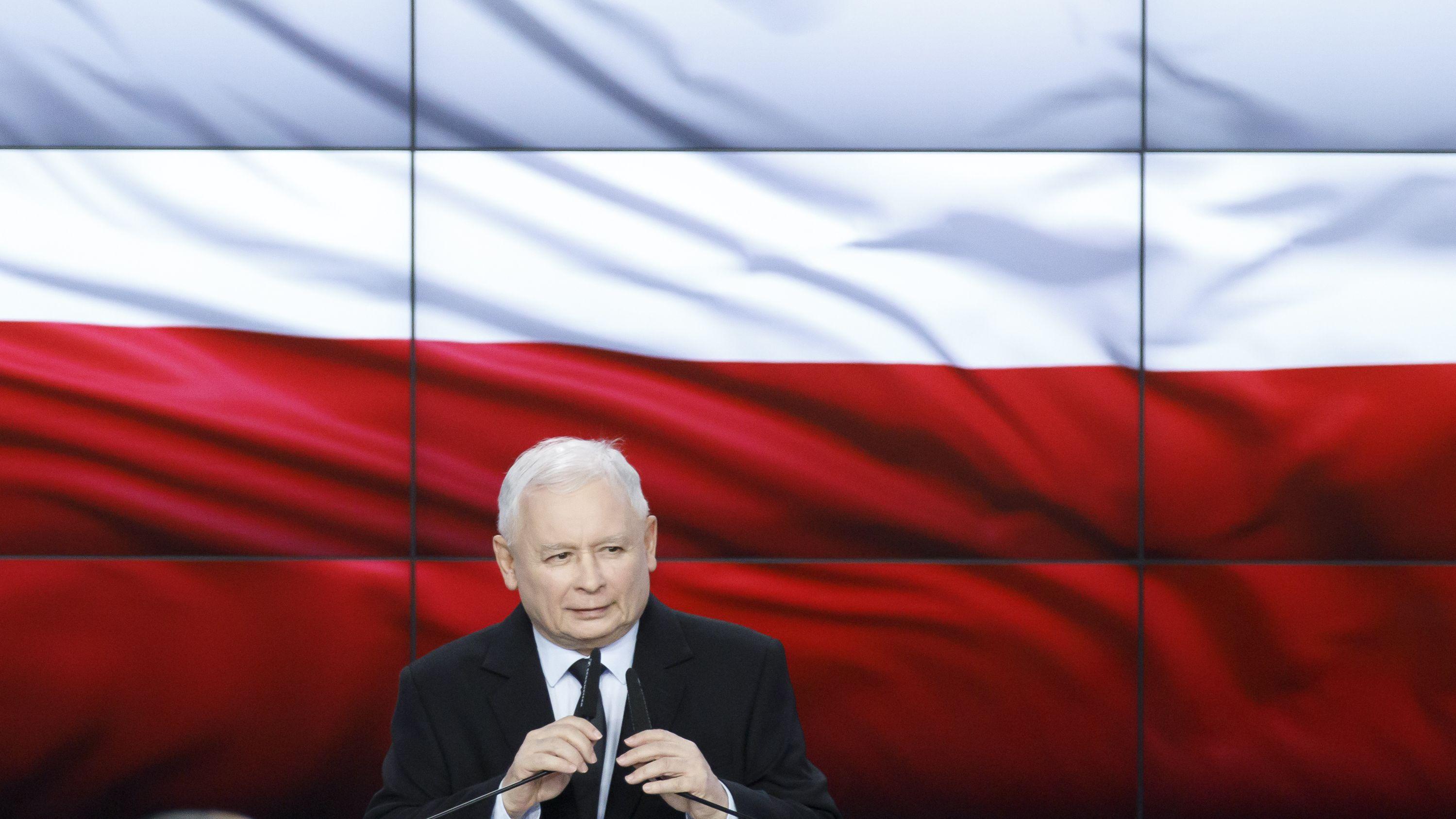 Jaroslaw Kaczynski am Wahlabend